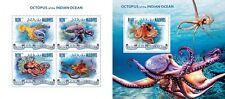MLD14307ab Maldives 2014 Octopus MNH SET **