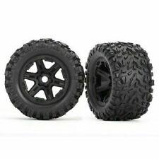 Traxxas 8672 Talon EXT Tires Black Wheels Glued 17mm Spline E-revo 2.0 VXL