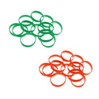 2 Dozens Rubber Silicone Bracelets Blank Wristbands Personalized Wrist Bands
