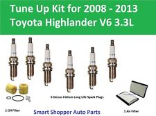 Tune Up Kit for 2008-2013 Toyota Highlander Oil Filter, Air Filter, Spark Plug