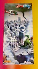 NEW SimCity Sim City - Nintendo Power Original RARE Poster NES SNES PS1 T-Rex