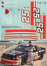 NASCAR DECAL #25 VIRGINIA IS FOR LOVERS 1992-93 BGN OLDSMOBILE HERMIE SADDLER