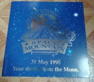 Rare plaque Disney commémorative space Mountain Disneyland Paris 1995