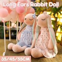 Cute Long Ears Rabbit Plush Toy Soft Pillow Dolls Stuffed Cushion Kids Gift