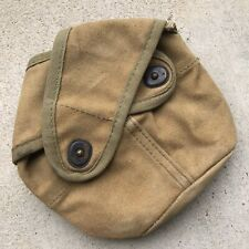 New listing Wwii Ww2 Usmc Cross Flap Canteen Cover Third Pattern Dqp Marked With Drain Hole