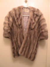 Vtg Furs by John C Minudri Brown Mink? Real Fur Cape Shawl Coat San Francisco
