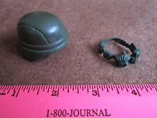 Doll Helmet Arm Band Military Green Action Figure Canteen Supply Strap GI Joe