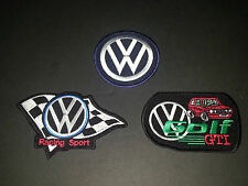 SET OF THREE MOTOR RACING SEW/IRON ON PATCHES:- WW
