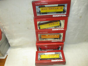 Mixed Lot 5 Mantua HO train cars NEW
