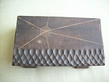 Rustic Primitive Folk Art  Hand Crafted & Hand Carved Wood Box With Hinged Lid