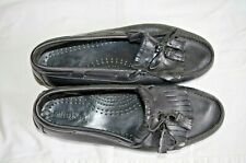 Vtg Dexter Comfort Men's Black Dress Slip On Mocs Shoes 9 2W  N642-1 Made in USA