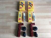 HONDA CB250 K3-K5 CB250 G5 73-75 CB360 G5 75 NGK BLACK SPARK PLUG CAPS FREE POST