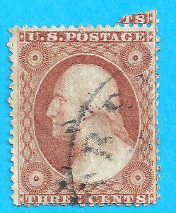 US # 26 USED 1856-61 3 CENT WASHINGTON N303