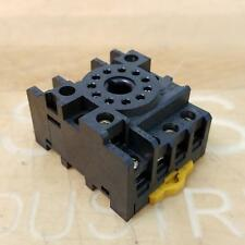 Omron Pf113a E Relay Base Socket 11 Pin Din Mount Used