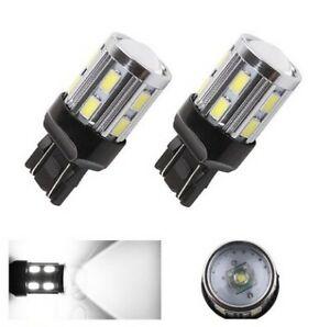 Ampoules T20 LED W21/5W Blanc Veilleuses CREE SMD 7443 feu de jour Auto 790LM