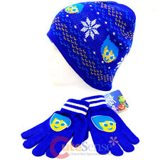 Disney Insideout Joy Beanie Snow Flakes Intrasia Knitted Hat Gloves Set