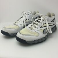 Reebok Mens Zigtech Zigtrainer Athletic Shoes J82838 White Gray Black US Size 9