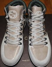 AUTHENTIC! $725 GUCCI ROCKY MARSH SUEDE/PAT HIGH TOP SNEAKER SZ 7UK/ 8US