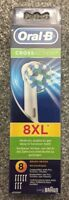 Genuine Original Braun ORAL-B CROSSACTION Toothbrush Heads 8XL 8 Pack UK