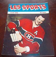 Les Sport April 1955 Doug Harvey Montreal Canadians
