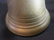 WW2 Large Brass Carved Bell 2nd Armored Division Hell on Wheels Trench Art