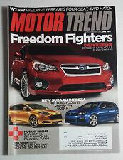 MOTOR TREND CAR MAGAZINE 2011 JUNE SUBRU IMPREZA FORD FOCUS ST VW GOLF R