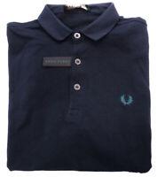Polo Fred Perry Uomo 95% cotone maniche lunghe made in Italy blu notte 30162201-