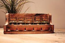 Gewürzregal mit Ankerkraut Gewürze Paletten Palettenmöbel Rustikal Holz Vintage