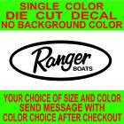 Ranger Fishing Boat Die Cut Vinyl Decal car truck window tackle box sticker