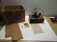 RCA Victor Model 45-J-2 Record Player w/Original Box & Instructions-For Parts