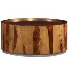 "Coffee Table Solid Sheesham Wood and Steel 26.8"""
