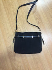 EUC Tiffany &Co BLAIR black nubuck suede leather crossbody purse shoulder bag