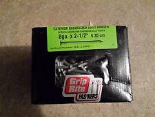 "Ten boxes of GripRite 8 gauge 2.5"" exterior galvanized joist hanger nails 5 Lb"
