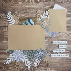 """Handmade Premade Scrapbook Page Layout ~ ENJOY THE LITTLE THINGS ~ 12"""" x 12"""""""