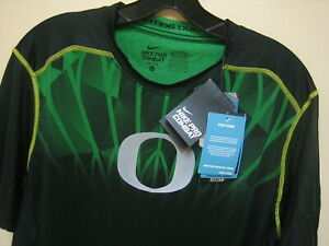 Mens Large NIKE PRO COMBAT DRI-FIT MAX Hypercool FITTED U of Oregon short sleeve