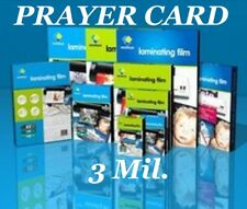Prayer Card 25pk 3 Mil Laminating Pouches Laminator Sheets 2-3/4 x 4-1/2 Quality