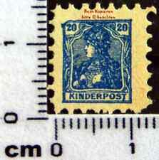 Cinderella-Kinderpost Original Briefmarke mit Germania-Motiv