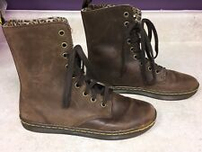 Dr Martens STRATFORD• US 6 EU 37• Brown Leather Leopard Womens Combat Boots