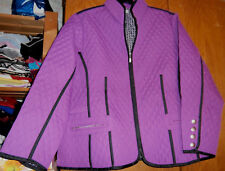 Superbe veste matelassée - coloris violet - MS MODE - Taille 52 - COMME NEUVE !!