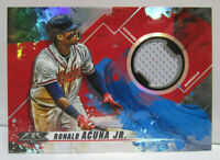 2019 Topps FIRE Baseball RONALD ACUNA JR. Player Worn Jersey Relic Card - BRAVES