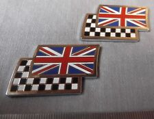 Genuine MG Mini Rover Union Jack Flag alterno BADGE EMBLEMA dag000070mmm (COPPIA)