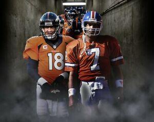 PEYTON MANNING & JOHN ELWAY 8X10 PHOTO DENVER BRONCOS FOOTBALL PICTURE NFL