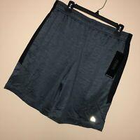 New RBX L Mens Shorts Gray Black Training Basketball Pockets Drawstring $45 A2