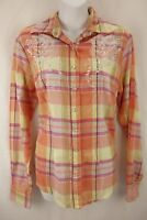 SADDLE RIVER Multi Color Plaid Jewel Long Sleeve Pearl Snap Up Shirt Women's S