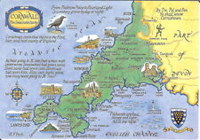 Cornwall: The Delectable Duchy, Map Card - Unposted 1980's