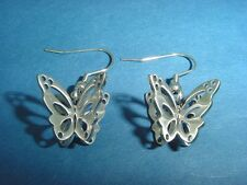 stainless steel dangling earrings with fantasy butterfly charms 1494
