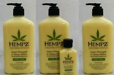 HEMPZ SWEET PINEAPPLE & HONEY MELON DAILY MOISTURIZER (3) + 2.25 OZ NEW 2016