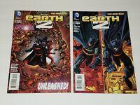 EARTH 2 #19 & #25 SET - 1ST VAL-ZOD BLACK SUPERMAN HIGHER GRADE SEE PICS
