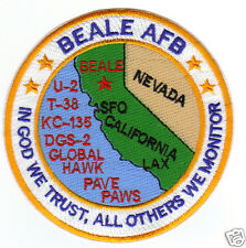 "USAF BASE PATCH, BEALE AFB CALIFORNIA, ""IN GOD WE TRUST, ALL OTHERS WE MONITOR Y"