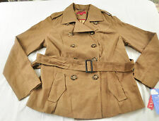 WOMENS MERONA JACKET SIZE SMALL BROWN HOUNDSTOOTH STYLE BUTTON FORNT COLLAR